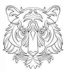 Small Picture Abstract Tiger coloring page Free Printable Coloring Pages