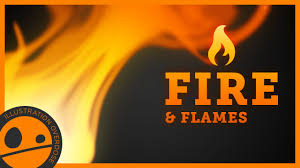 How to Draw Fire and Flames - Easy Step by Step Tutorial - YouTube