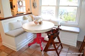 Built In Bench Kitchen Table With Built In Bench Dohatour