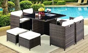 13 piece outdoor dining set goods global 9 or piece cubed rattan dining sets montreal 13 piece outdoor dining setting
