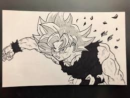 First Ever Manga Style Drawing By Me No Reference Was Used Dbz
