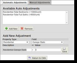 Adjustments Tab Cma