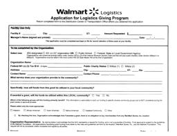 Walmart Application Share Form Walmart Distribution Center Application 697