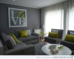 Gray Living Room Simple Design