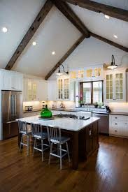 kitchen lighting vaulted ceiling. 13 Ways To Add Ceiling Beams Any Room Best Of Pinterest Kitchen Lighting Vaulted