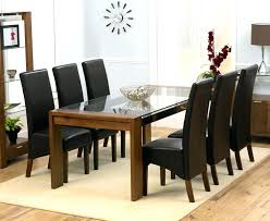 table 6 chairs. full image for black glass round dining table and 6 chairs white