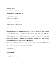 template for business letter sample business invitation letter 9 download free documents in