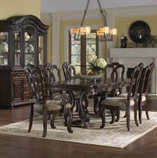 San Marino Extendable Dining Room Set From Samuel Lawrence - Dining room table and china cabinet