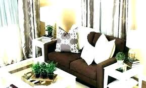 brown leather couch living room ideas sofa decor light rug