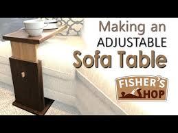 an adjustable sofa table