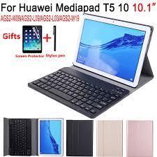 Tháo Rời Bàn Phím Dành Cho Máy Tính Bảng Huawei Mediapad T5 10 10.1 AGS2  L09 AGS2 W09 AGS2 L03 Bao Ốp Lưng Bàn Phím Cho Huawei T5 10.1 + bộ Phim +