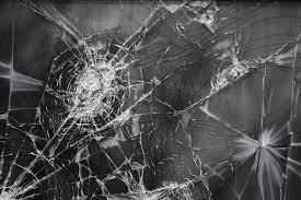 Download Wallpaper Broken glass, Cracks ...