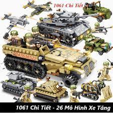 544 CHI TIẾT-HÀNG CHUẨN] BỘ ĐỒ CHƠI XẾP HÌNH LEGO XE TĂNG - 33 Tạo Hình