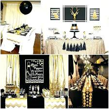 Black White Gold Bedroom And Decor Party Table Decorations Ideas ...
