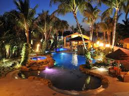 outdoor lighting around pool inspirations and landscape ideas picture