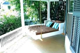 hanging swing bed round plans outdoor porch covers free for baby hanging swing bed porch plans