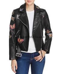 jackets in black aqua comfortable erfly leather moto jacket cz16927