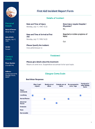 First Aid Incident Report Template Pdf Templates Jotform