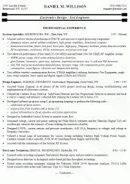collection of solutions electronic engineering resume sample with reference  - Electronic Resume Sample