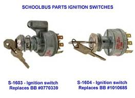 ignition switch part numbers wanderlodge owners group school bus parts company ignition starter switch part numbers s 1603 ignition switch bluebird replaces bb 0770339