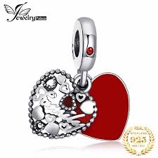 <b>Jewelrypalace 925 Sterling</b> Silver Red Enamel Beads Charms Fit ...