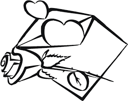 Valentines Message With Rose Coloring Pages