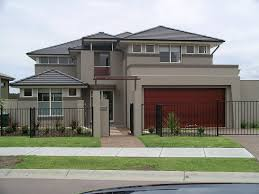 Gallery Of House Interior Exterior House Colors Brown Trim - Modern houses interior and exterior