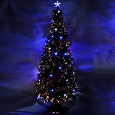 Multi Coloured Fibre Optic Christmas Trees  Christmas Lights Black Fiber Optic Christmas Tree