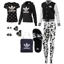 adidas outfits. black and white adidas outfit outfits