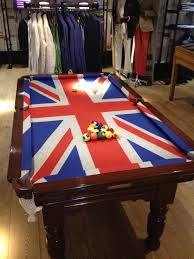 Crown Royal Pool Table Light Antique Snooker Pool Table With Union Jack Cloth At