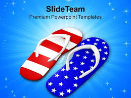 Red White And Blue Powerpoint Templates Pair Of Red White And Blue Footwears Powerpoint Templates Ppt Them