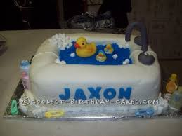 awesome rubber ducky shower cake