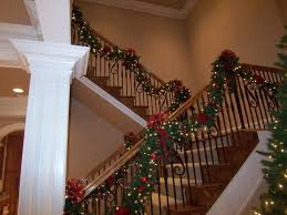 Ribbon Christmas Staircase Decorating Ideas | ... Design  ConnectionsDecorative Christmas Garland Ideas - Kenyan