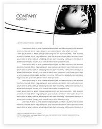 Black And White Letterhead Child In Black And White Letterhead Template Layout For