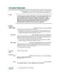 College Resume Example