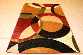 contemporary area rugs on sale square red black yellow cream