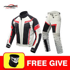 2019 duhan men motorcycle jacket summer breathable mesh jacket motorcycle pants set spring moto pants suit clothing protective gear from minio