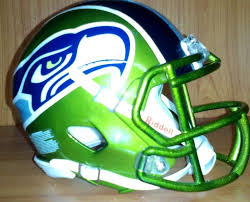 ultimate seattle seahawks custom mini football helmet riddel speed