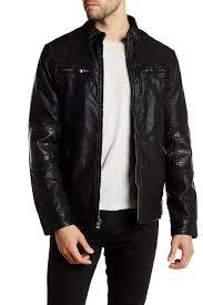 image of xray faux leather jacket