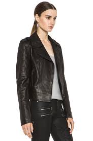 image 4 of paige sacha leather jacket in black