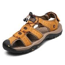 2018 fashion quality genuine leather men roman sandals