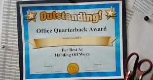 Funny Awards At Work Funny Award Ideas Funny Office Superlatives