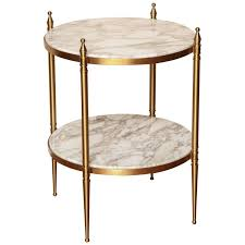 two tiered small round side table at