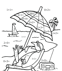 Addition Coloring Page Grade Coloring Pages Addition Sheets Spring
