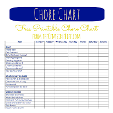 chore chart template for teenagers chore chart template for teens ender realtypark co