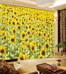 Sunflower Curtains For Kitchen Online Buy Wholesale Sunflower Kitchen Curtains From China