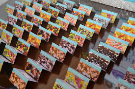 Fold Over Place Cards Candy Themed Fold Over Place Cards With Candy Images Bat Mitzvah