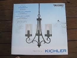 kichler diana 3 light olde bronze williamsburg clear glass candle chandelier 737995347239