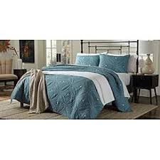 Bed Size Full/Queen Cannon Quilts & Coverlets: Quilts - Sears & Cannon Embroidered Quilt - Teal Adamdwight.com