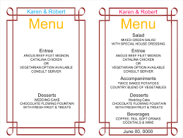Printable Menus Template - April.onthemarch.co